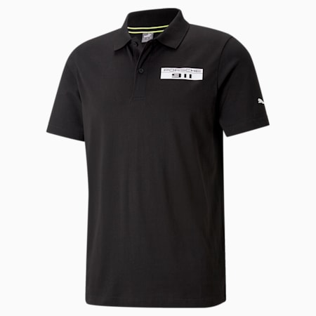 Porsche Legacy Men's Polo Shirt, Puma Black, small-SEA