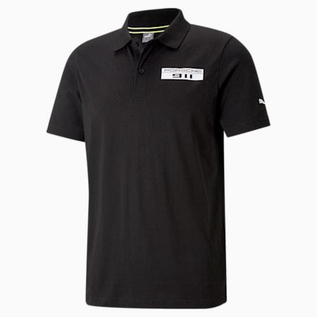 Porsche Legacy Men's Polo Shirt, Puma Black, small-SEA