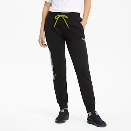 Evide Knit Women's Track Pants, Puma Black, small-GBR