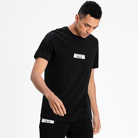 Porsche Legacy Base Logo Men's T-Shirt, Puma Black, small-IND