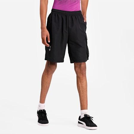 Avenir Men's Cargo Relaxed Shorts, Puma Black, small-IND