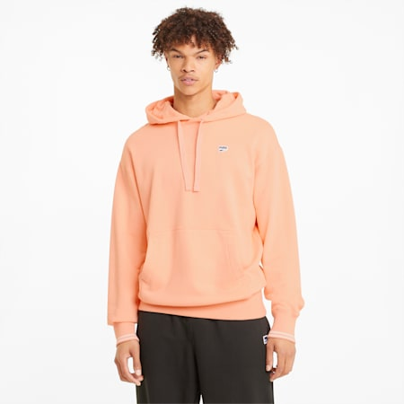 Downtown hoodie heren, Apricot Blush, small