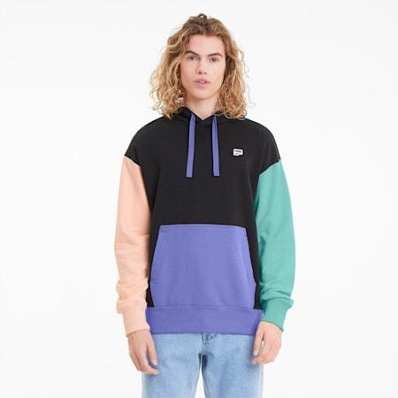 Downtown Men's Hoodie, Puma Black-multi color, small-SEA