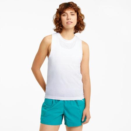 Evide Mesh Women's Tank Top, Puma White, small-SEA