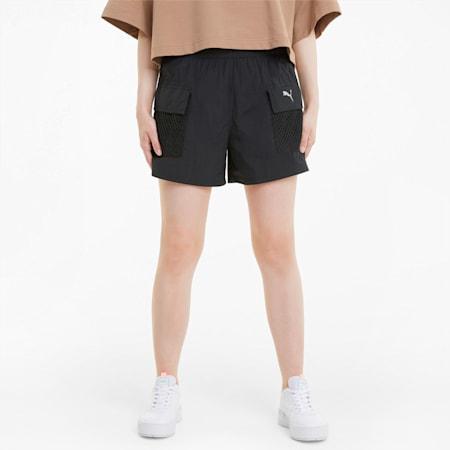 Evide Damen Web-Shorts, Puma Black, small