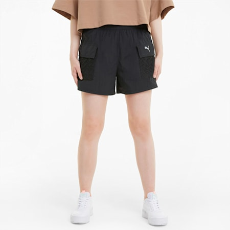 Evide Woven Women's Shorts, Puma Black, small-SEA