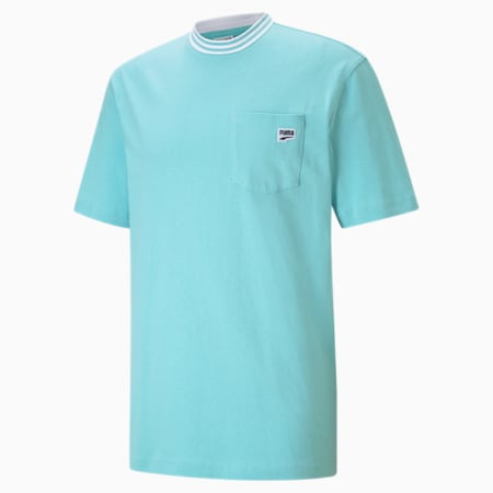 Downtown Pocket Men's Relaxed T-shirt, Angel Blue, small-IND