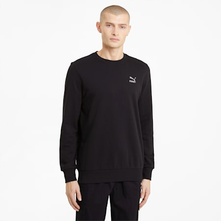 Classics Embro Herren Sweatshirt mit Rundhalsausschnitt, Puma Black, small
