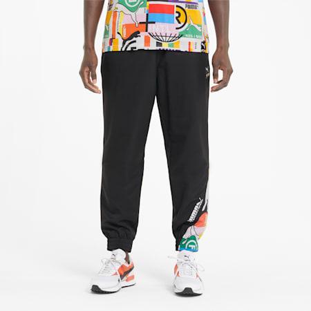 PUMA International Woven Men's Track Pants, Puma Black, small-SEA