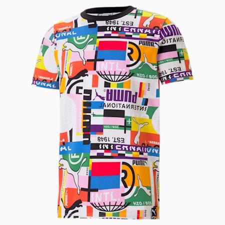 PUMA International Herren T-Shirt, Puma White, small
