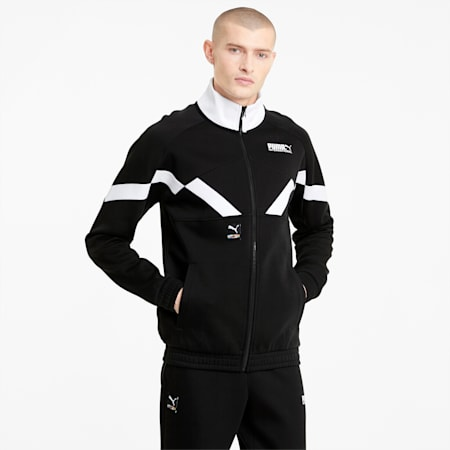 INTL Game Men's Double Knit Track Jacket, Puma Black, small