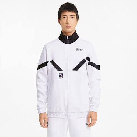 INTL Game Men's Double Knit Track Jacket, Puma White, small
