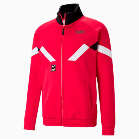 INTL Game Men's Double Knit Track Jacket, High Risk Red, small