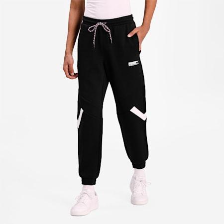 PUMA International Double Knit Men's Track Pants, Puma Black, small-IND