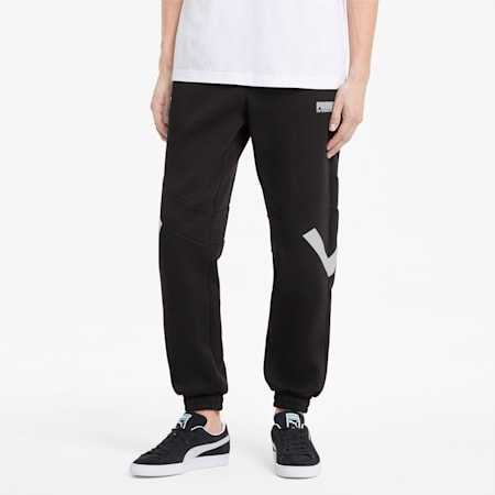 INTL Game Men's Double Knit Track Pants, Puma Black, small