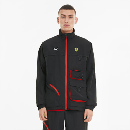 Scuderia Ferrari Statement Men's Jacket, Puma Black, small-GBR