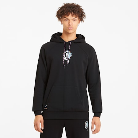 PUMA International Graphic Men's Hoodie, Puma Black, small
