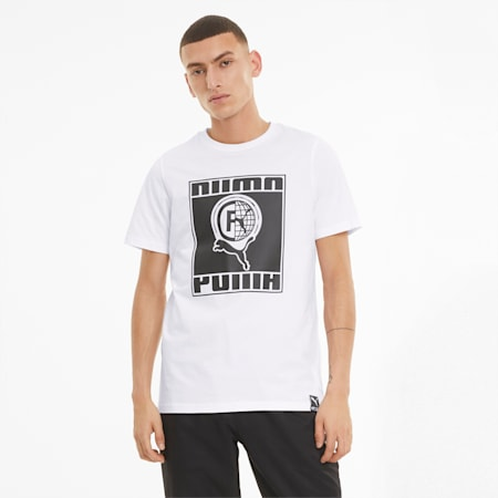 PUMA International Men's  T-shirt, Puma White, small-IND