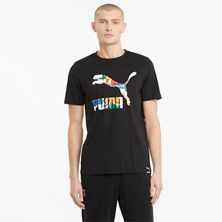 PUMA INTL Men's Tee, Puma Black-Archive logo, small