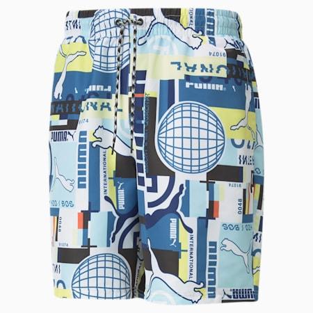 PUMA International Printed Men's Shorts, Puma White, small-SEA