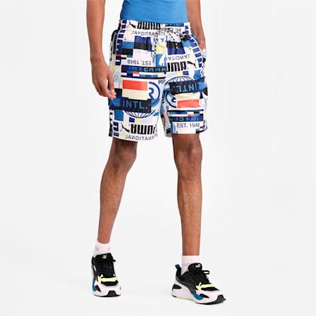 PUMA International Printed Men's Shorts, Puma White, small-IND