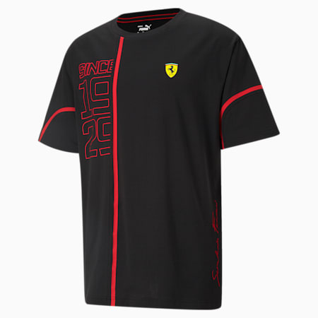 Scuderia Ferrari Statement T-shirt met grafische print heren, Puma Black/ Red, small