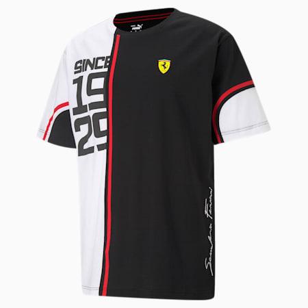 T-shirt con grafica audace Scuderia Ferrari uomo, Puma Black/ White, small