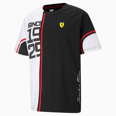 Scuderia Ferrari Statement Graphic Men's Tee, Puma Black/ White, small-IND