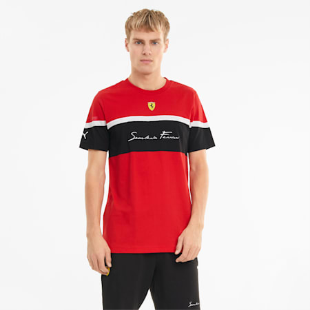 Scuderia Ferrari Race XTG Men's  T-shirt, Rosso Corsa, small-IND