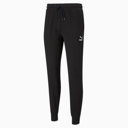 Classics Jersey Cuffed Men's Pants, Puma Black, small-SEA