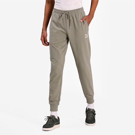 Classics Jersey Cuffed Men's Slim Pants, Vetiver, small-IND