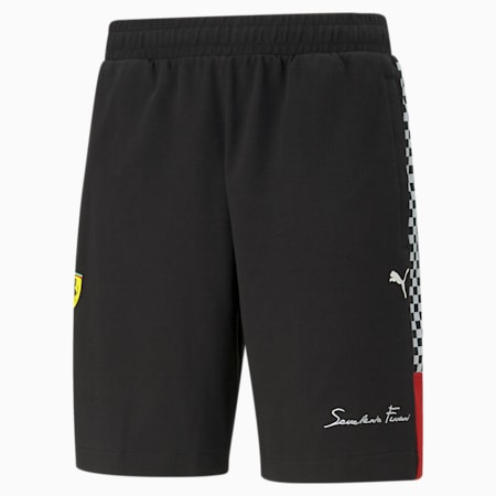 Scuderia Ferrari XTG Knitted Men's Shorts, Puma Black, small-GBR