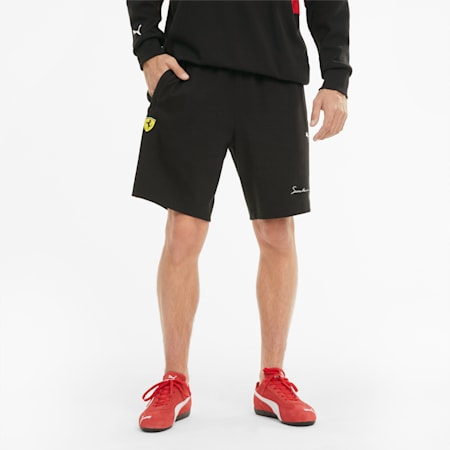 Scuderia Ferrari XTG Knitted Men's Shorts, Puma Black, small-GBR