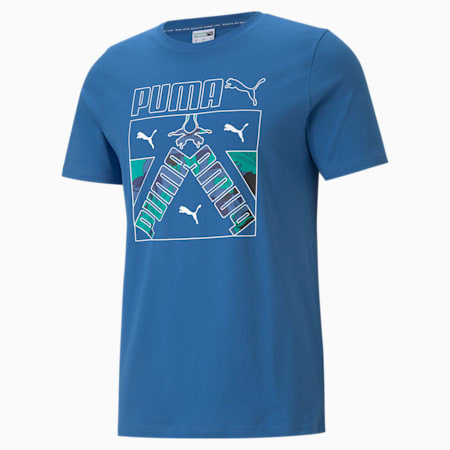 Classics Graphic Men's  T-shirt, Star Sapphire, small-IND