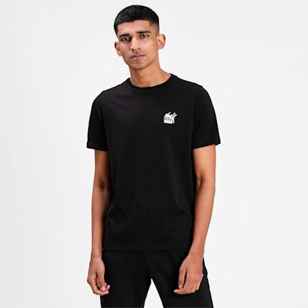 Classics Graphic Men's  T-shirt, Puma Black-Puma White-2, small-IND
