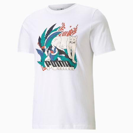 Classics Graphic Men's  T-shirt, Puma White-Puma Black-2, small-IND