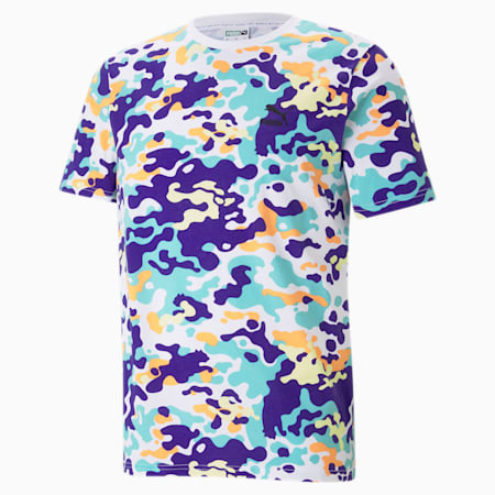 Classics Graphic Printed Men's  T-shirt, Puma White-AOP, small-IND