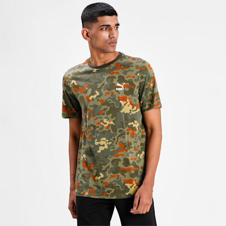Classics Graphic Printed Men's  T-shirt, Forest Night, small-IND