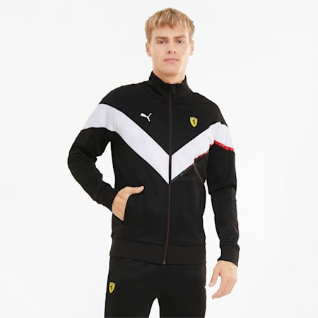 Scuderia Ferrari MCS Men's Track Jacket, Puma Black, small-GBR