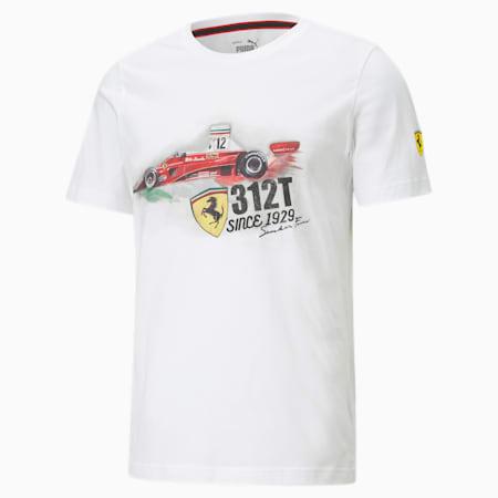 T-shirt classiqueScuderia Ferrari Race, homme, Blanc Puma, petit