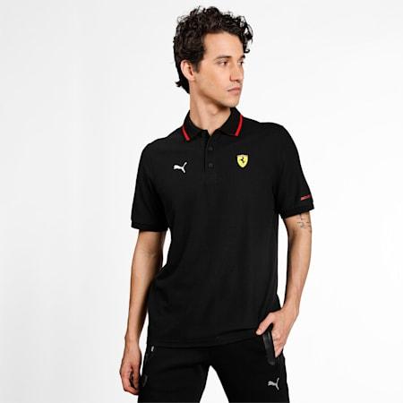 Scuderia Ferrari Race Men's Polo Shirt, Puma Black, small-IND