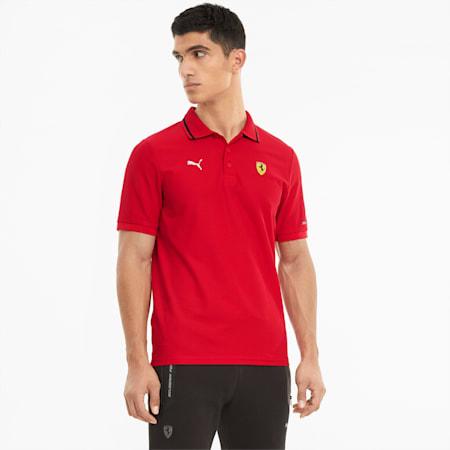 Scuderia Ferrari Race Men's Polo Shirt, Rosso Corsa, small-SEA