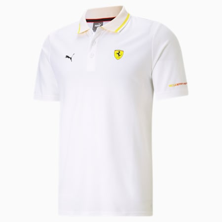 Scuderia Ferrari Race Men's Polo Shirt, Puma White, small-IND