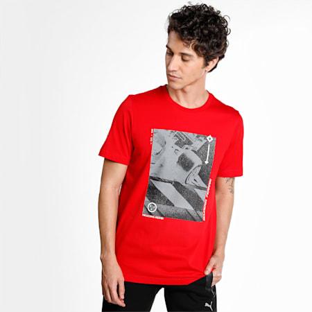 Scuderia Ferrari Race Graphic Men's  T-shirt, Rosso Corsa, small-IND