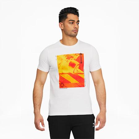 Camiseta estampada Scuderia Ferrari Race para hombre, Puma White, pequeño