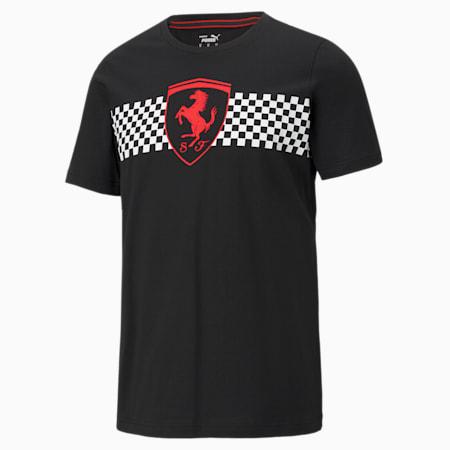 T-shirt à drapeau damier Scuderia Ferrari Race, homme, Puma Black, petit