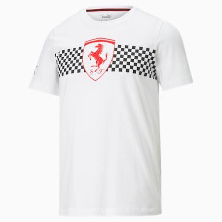 Scuderia Ferrari Chequered Flag Men's Tee, Puma White, small