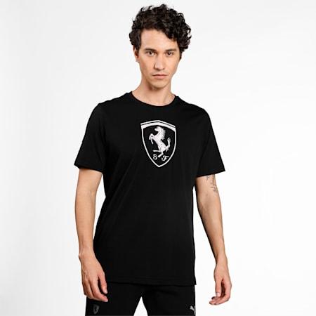 Scuderia Ferrari Race Big Shield Men's  T-shirt, Puma Black, small-IND