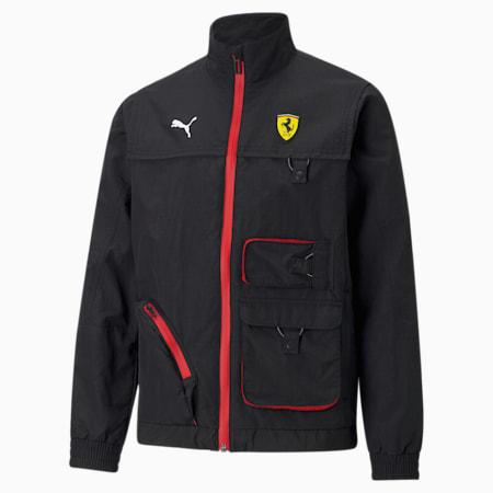 Scuderia Ferrari Youth Street Racing Jacket, Puma Black, small-SEA