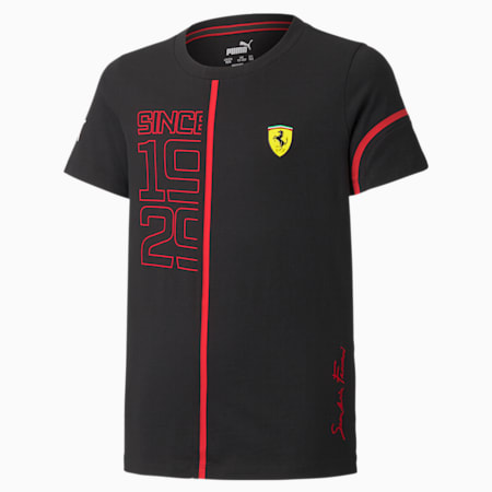 Scuderia Ferrari Graphic Youth Street Racing Tee, Puma Black, small-GBR